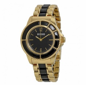 Versace VERSUS BY VERSACE Tokyo Black Dial Two-tone Ladies Watch