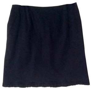 INC International Concepts Comfortable Ruffle Hem Stretch Skirt Black