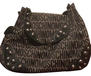 Moschino Satchel in Green and Grey