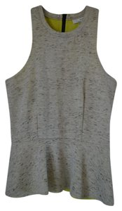 Bar III Peplum Halter Top Grey