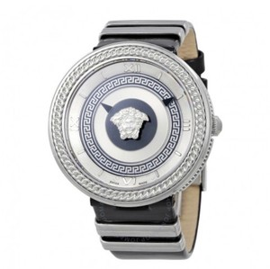 Versace VERSACE Metal Icon Silver Dial Patent Leather Ladies Watch
