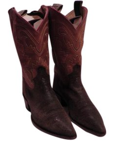 Justin Boots Trees Included Box In Fair Shape Brown/ Gold Boots