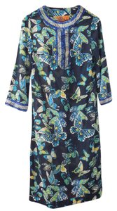 Navy Multi-Color Maxi Dress by Tory Burch
