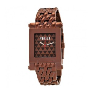 Versace VERSUS BY VERSACE Pret Brown Triangle Dial Bronze Ion-plated Ladies Watch
