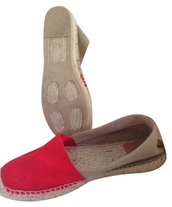 Tory Burch Espadrille Canvas Tomato Red - Natural - Jute Flats
