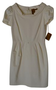 Ali Ro Puff Sleeve Cowl Neck Dress