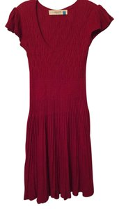 Anthropologie short dress Red Knit on Tradesy