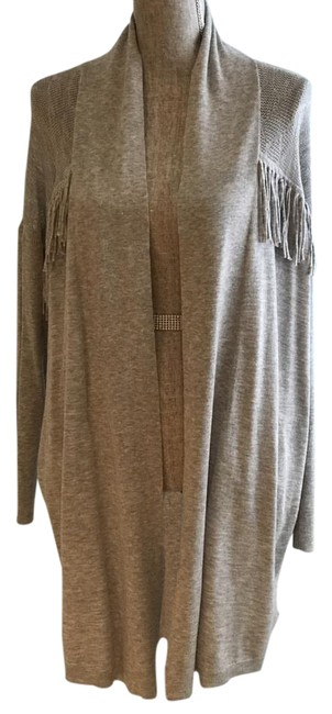 Item - Gray With Fringe Cashmere Blend (Small) Cardigan Size 6 (S)