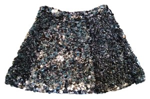 AllSaints Sequin All Mini Blue Mini Skirt Blue Black
