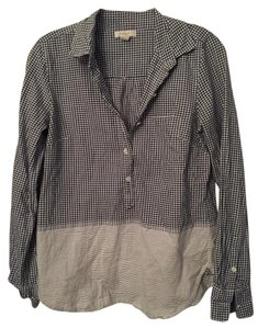 J.Crew Button Down Shirt Navy Gingham and Stripe