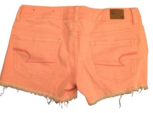 American Eagle Outfitters Cut Off Shorts Coral/Orange