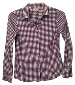 J.Crew Button Down Shirt Purple gingham