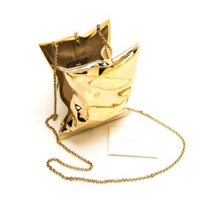 Anya Hindmarch Crisp Packet Gold Clutch