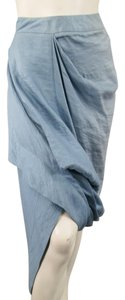 Vivienne Westwood Textured Pencil Avant-garde Multi-level Draped Skirt Blue