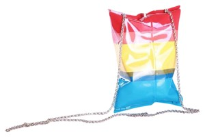 Anya Hindmarch Crisp Packet Brass Metal Rainbow Crisp Multi-Colored Clutch