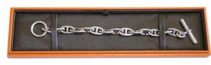 Hermès Chaine d'Ancre Sterling Silver Toggle Bracelet Men's / Unisex