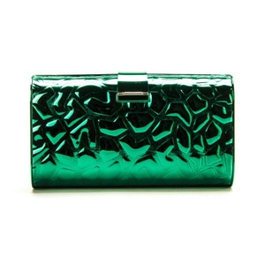 Edie Parker Giraffe Rebekah Metal Green Clutch
