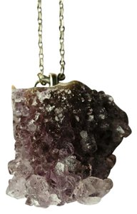 Bright Eyes Amethyst Cluster Crystal Necklace