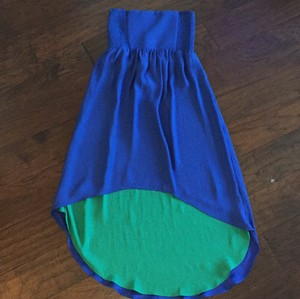 blue and green Maxi Dress by Fire