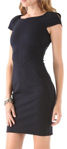 Diane von Furstenberg Sheath Seaming Cap Sleeve Stretchy Classic Dress