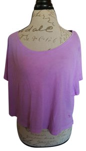 Victoria's Secret Crop T-shirt Top Purple