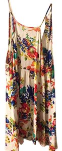 Flying Tomato short dress white with multicolor flowers on Tradesy