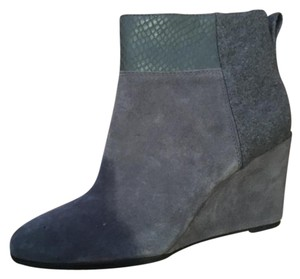 Tahari Wedge Grey Boots