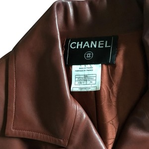 Chanel Red Leather Jacket. Leather Jacket