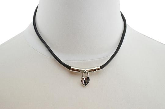 Preload https://item1.tradesy.com/images/hermes-silverblack-pendant-and-leather-necklace-2063680-0-0.jpg?width=440&height=440