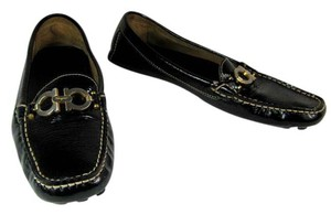 Salvatore Ferragamo Leather Brown Gancio Loafers Flats