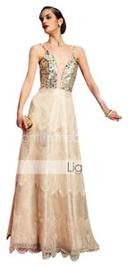 TS couture Formal Evening A-line Ball Floor-length Lace Dress