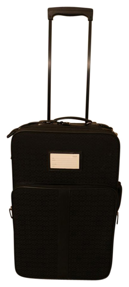 ... new arrivals coach suitcase monogram black travel bag 84781 9b7ff ... 142fa7f838838