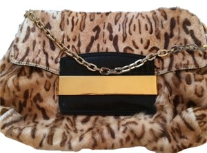 Jimmy Choo Gold Hardware Crocodile Leather Shoulder Bag
