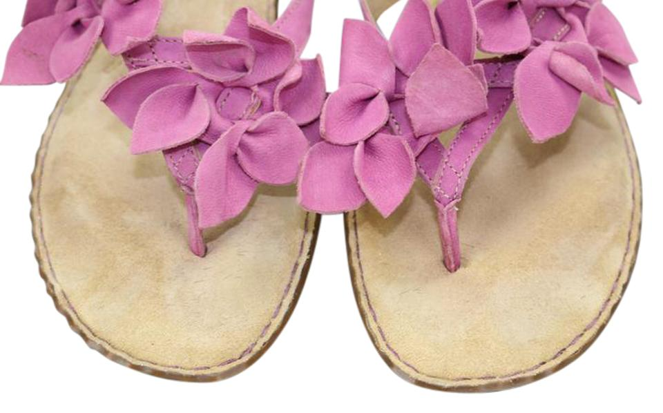 Clarks pink new never owned bendables leather flowers sandals size clarks summer spring suede floral pink sandals mightylinksfo Gallery