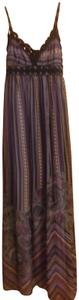 Purple with Multi-Color Designs Maxi Dress by Charlotte Russe Long Maxi Size Small And Other Colors Style #cc09-01-00117