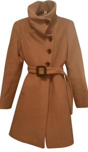 Soia & Kyo High Neck Belted Belt A-line Coat