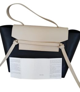 Céline Belt & Cream Good Condition Tote in black