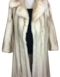 White Mink Fur Coat