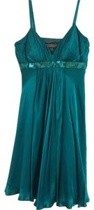 Anne Klein Silk Strappy Sequins Silky Dress