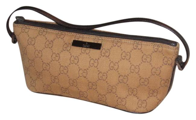 Item - Pouchette Purses Rusty Orange Large G Logo Print Canvas/Brown Leather and Hobo Bag