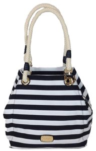 Michael Kors Tote in Blue and White with Gold and Black