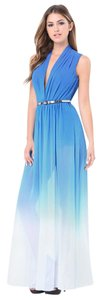 Turkish Sea (Blue) Maxi Dress by bebe Summer Cocktail Attire Flowy Sexy