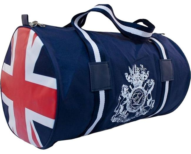 Item - Duffle Union Jack Design Navy Red White Canvas Weekend/Travel Bag