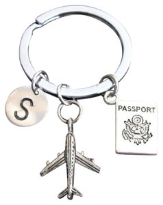 Fashion Jewelry For Everyone Personalized Passport Traveling Document Airplane Keyring Keychain