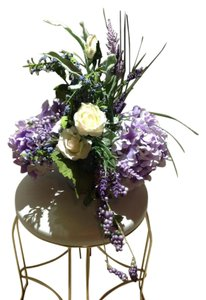 Purple/lilac Silk Flower Center Pieces