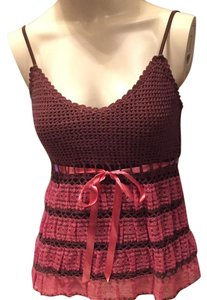Betsey Johnson Top Brown and pink