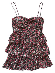 Forever 21 short dress Black Floral Rosebud Polka Dot on Tradesy