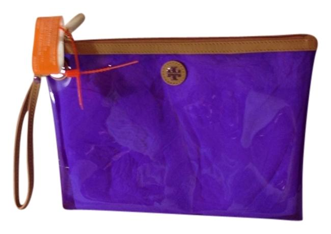 Item - Jesse Swimsuit Pouch Orchid Purple Plastic and Leather Beach Bag