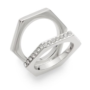 Vita Fede crystal ring 6 Silver color with crystals