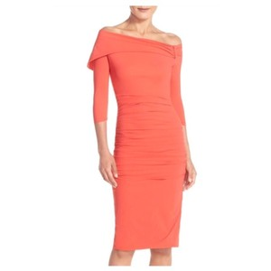 La Petite Robe di Chiara Boni Asymmetrical Neck Cocktail Dress